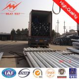 Octogonal 11.8m Galvanized Steel Utility Poles with Cross Arm