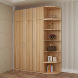 3 Doors Wardrobe with Wall Storage Cabinet