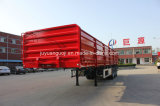 Video - Aotong Brand 3 Axles Side Wall Flatbed Grain Transporter Trailer Truck