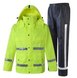 100% Polyester Raincoat Police Raincoat Luminous Waterproof