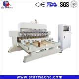 Starmacnc Multi Head Wood CNC Router / Woodworking CNC Router for Cylinder Wood Material
