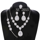 CZ Zircon Fashion Jewelry Set Necklace Earrings for Women