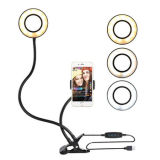 Amazon Hot Product Battery LED Selfie Ring Light 36 LED Universal Ring Mounted for Mobile Phone