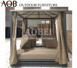 Aobei Modern Outdoor Garden Hotel Resort Patio Furniture Gazebo Beachbed Cabana Sofabed Daybed Sunbed