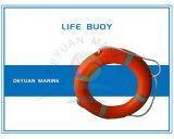 Marine Life Buoy with Buoyant Smoke Signal and Selfigniting Light