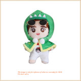 Plush Toy Stuffed Doll with Green Cloak Kids Toy