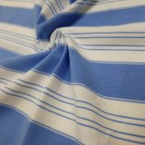 Stripe Yarn Dyed Jersey Cotton Spandex Fabric for T Shirt Pullovers Blouses Garment