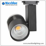 30W/35W LED COB Track Light for Shop/Store/Mall/Art Gallery Lighting Ce, RoHS, SAA, ETL