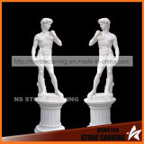 White Marble David Statue with Pedestal