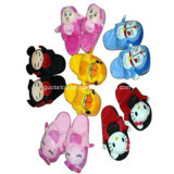 Lovely Children Plush Animal Slippers with DOT Cloth Soft Sole (GT-09785)