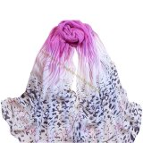 Fashion Leopard Imitation Silk Scarf