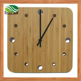Home Decoration Square Bamboo Wall Clock