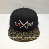 Custom Hip Pop Snapback Cap with Sublimation Printed Logo and 3D Embroidery