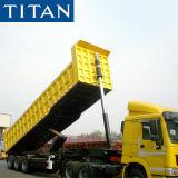 3 Axles 35 Cubic Meter 40/60/80/100 Ton Hydraulic Rear Tipping Unloading Dumper Semi Tipper Dump Truck Trailer for Sale Price