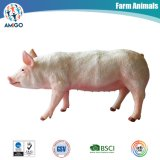 Animal Figure Plastic Pink Pig Toy for Kids