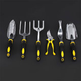 7 Piece Garden Tool Set Includes 6 Tools W/ Heavy Duty Cast-Aluminum Heads & Ergonomic Handles and 1 Garden Tote