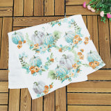 Wholesale Customize All Purpose Use Thickened Active Printed Velvet Soft Absorbent 100% Pure Cotton Face Towel Facial Towel