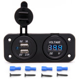 Universal 3.1A Dual USB Charger Socket and Voltmeter Socket