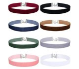 8PCS/Set 30c Choker New Fashion Flannel Accessories Short Choker Necklace Female 2018 Sexy Lady Valentine's Day Gift
