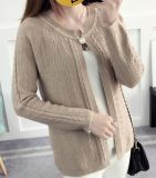 2017 Knitted Sweater Coat Female Loose Wild Coat (BTQ220)