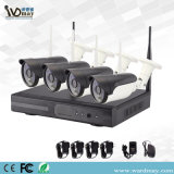 2017 Hot Selling 4chs WiFi NVR Kits in Market and Low Cost Outdoor HD Wireless System Home Security P2p WiFi IP Camera