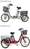 Durable Lithium Battery 36V 250W 3 Wheel Electric Tricycle for Adults