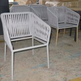 Rope Weaving Garden Aluminum Dining Chair Outdoor Furniture for Patio