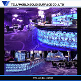 Modern Marble Coffee Restaurant LED Iiluminated Bar Counter&Bar Table