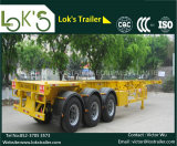 40 Feet 3axles Skeletal Chassis Container Semi Trailer