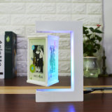 Magnetic Levitation Acrylic Picture Photo Frame with LED Light