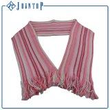 Fashion Stripes Jacquard Acrylic Knit Scarf for Woman