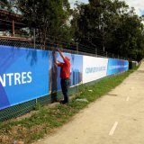 Outdoor Windy Advertising Banner Mesh Full Color Fabric PVC Banner