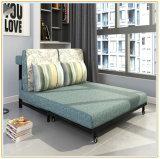 Wholesale Linen Foam Sleeping Foldable Sofa Bed Futon Bed (192*120cm)