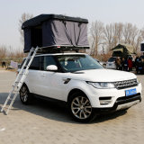 2 Person Canvas Fabric Hard Shell Roof Top Tent for Car Travelling
