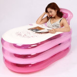 Big Size Pink PVC Inflatable Swim SPA Bathtub for Adult