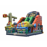 Commercial Cartoon Jumping Castle Inflatable Slide CS1401