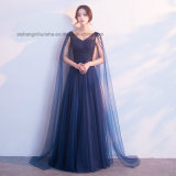 Lovemay Tulle Women Beading Sleeveless Evening Party Prom Dress