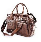 Factory Wholesale Good Price Vintage Leather Business Shoulder Bag for Men