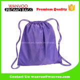 2017 Wholesale Blank Purple 420t Polyester Drawstring Sprot Backpack