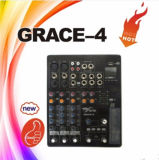 Audio Mixer 4channels Mini Audio Mixer Console Grace-4