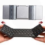 New Arrival Travel Metal Folding Bluetooth 3.0 Keyboard Portable Tablet Bluetooth Keyboard