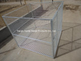 Dog Kennel or Dog Cage for Sale/Stackable Folded Galvanized Steel Welded Storage Cage