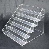 6 Tiers Clear Perspex Display Shelf, OEM/ODM Acrylic Pop Display Stands