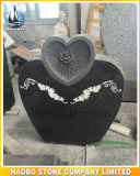 Heart Shaped Headstone Floral Carving
