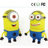 Minions Design PVC Material Customzied Logo USB Pendrive USB2.0