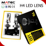 Auto Y6 LED Headlight High Low Beam Mini H4 LED Projector Lens