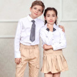 Cheap China School Wear Long Sleeve Shirt and Dress School Uniform Clothes with Custom Design