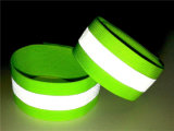 Yellow Color Elastic Tape Reflective Belt with Grey Color Heat Transfer Film in The Middle
