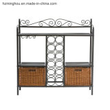 Factory Wholesales Metal Display Shelf with Wine Bottle Rack Furniture