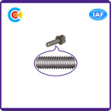 Fastener/Fittings Multicolored Stainless Steel Cross/Phillips Pan Head Screws with Gasket/Washer